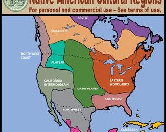 Clipart: North America Native American Cultural Regions