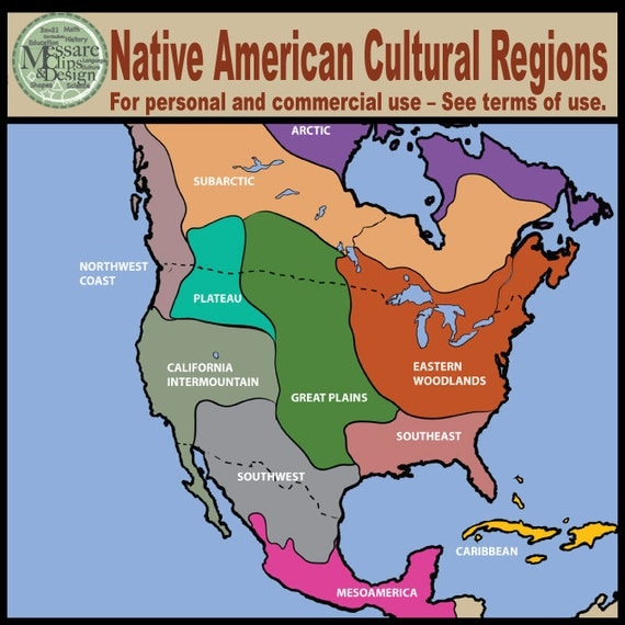 Items similar to Map Clipart North America Native American