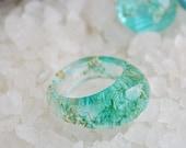nature rings, nature inspired rings,  resin ring flower, resin ring , eco resin, eco resin ring, resin rings, eco resin ring, terrarium ring