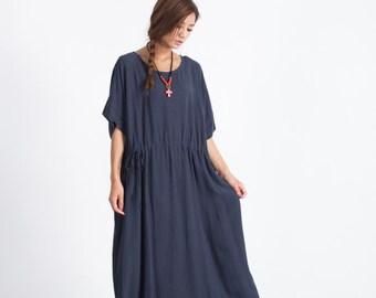 Women's Oversize Dress linen Casual dress cotton caftan linen kaftan plus size clothing large size dress Custom_made clothing A31