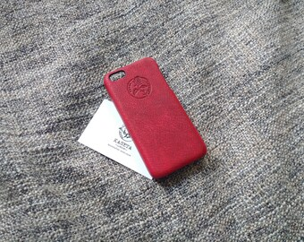 iPhone 5c leather case ''Ox Blood'