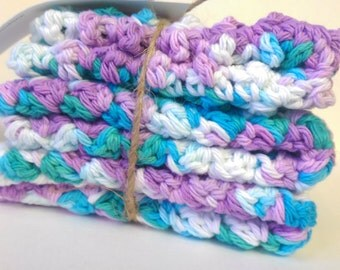 Crochet Dish Cloths, Cotton wash cloths, Colourful wash cloths, Face cloth, Baby wash cloths