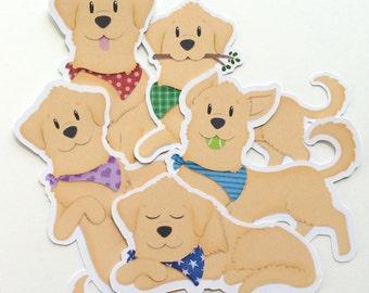 Golden Retriever Die Cut Stickers