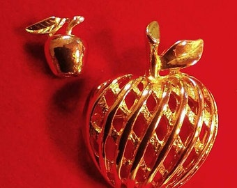 Goldtone Apple Pins