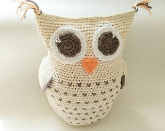 Owl decor, Crochet owl, crochet decoration, owl toy baby shower