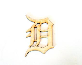 Detroit Tigers D wood cutout
