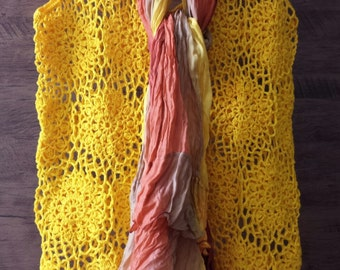 CROCHET TUNIC YELLOW