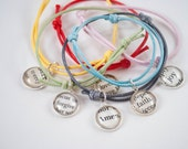 Personalized Cord Bracelet, Budget Bridesmaid Gifts, First Communion Gifts for Girls, Gift for Goddaughter