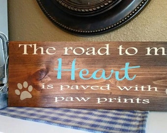 Road to My Heart wood sign