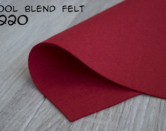 Wool Blend Felt Red