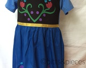 Anna from Frozen comfy t-shirt dress sizes 2 , 3, 4, 5 (ages 2-3, 3-4, 4-5, 5-6)