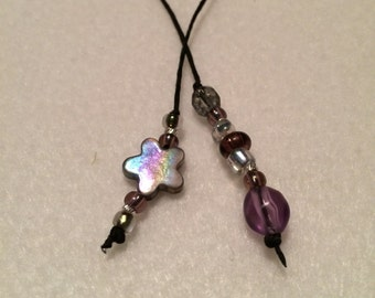 Book Thong~Bookmark~Silver Rainbow~Purple