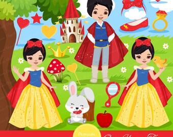 Princess clipart, Snow White clipart, Princesses, Princess party, Princess scrapbooking, Princess graphics - CA355
