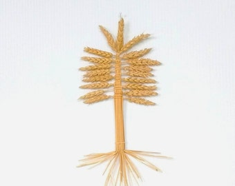 Wall Decor - Wheat Weaving - Tree of Life - straw art - corn dolly - rustic, earth goddess symbol, bohemian, folk art, pagan