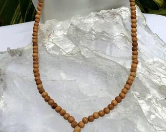 Sandalwood Mala Necklace | 108 Bead Mala Necklace | Prayer Beads