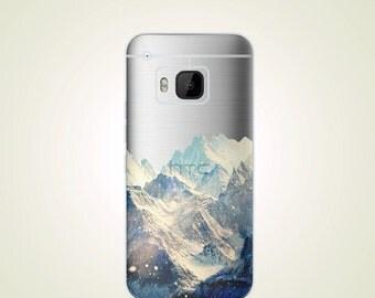 Snow White Mountain Translucent Design TPU Soft case HTC one M9 case M9+ M9 plus case M8 case M7 case Desire Eye case