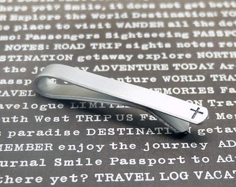 Monogram Tie Clips- Hand stamped Tie Clips, Personalized Aluminum Tie Bars, Groomsmen Gift, Gift for Man, Wedding gift, Anniversary Gift.