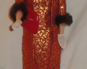 Mattel Vintage Barbie Golden Elegance #992 (1963) Tagged Outfit with Reproduction Barbie 1993