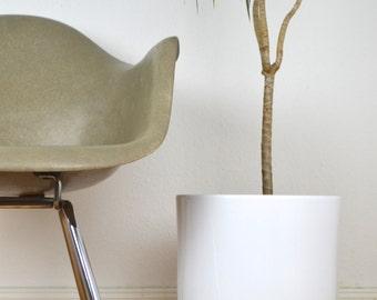 "11.00""  XL Low Mid Century Planter Architecture Pottery Plant Stand Flower Pot Retro Vintage Walnut"