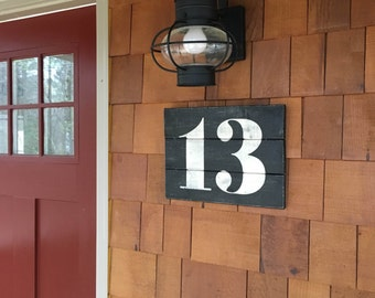 house number sign etsy. Black Bedroom Furniture Sets. Home Design Ideas