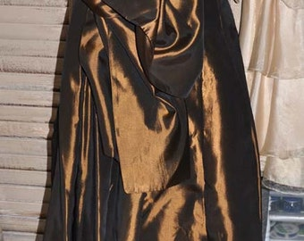Jessica McClintock Gown, Copper Gown, McClintock Gown With Tags, Size 10 Gown, Copper Formal Ball Gown, Gown and Shawl, Bridesmaid Gown