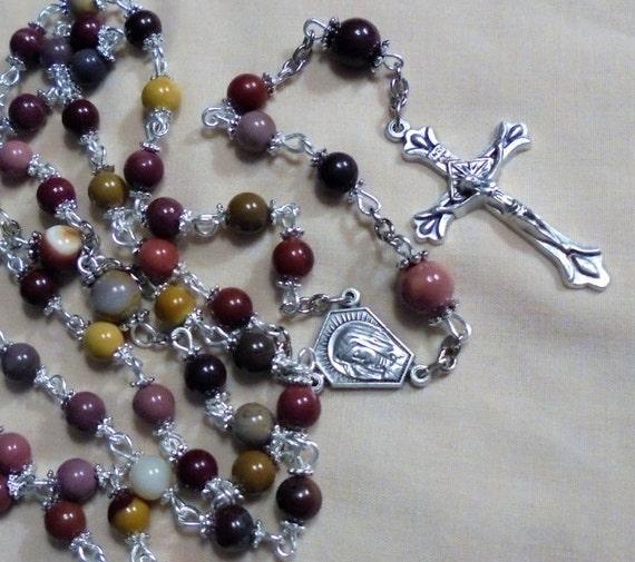 gemstone rosary catholic rosary 5 decade by rosariesbyesther
