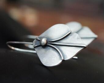 Sterling silver earrings, Silversmith earrings , Boho earrings, Contemporary earrings, Moroccan earrings, Moroccan style earrings, Artisan