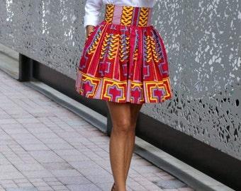 Africa wear high waist skirt
