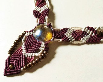 Macrame Jewelry bohemian natural macrame necklace
