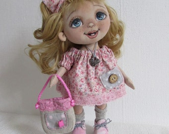 textile doll baby Kitty