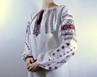 Vyshyvanka gift Folk blouse  Ukrainian Boho peasant blouse Vyshivanka Bohemian clothing Ukrainian clothing Handmade embroidery shirt