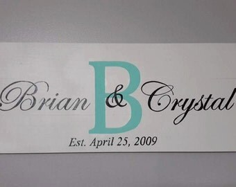 Wood Decorative Name sign