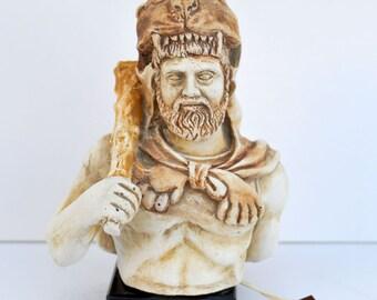 Hercules with club Ancient Greek Hero Demigod sculpture statue bust artifact