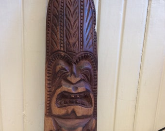 Hand Carved African Style Plaque
