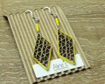 Geometric cardboard earrings
