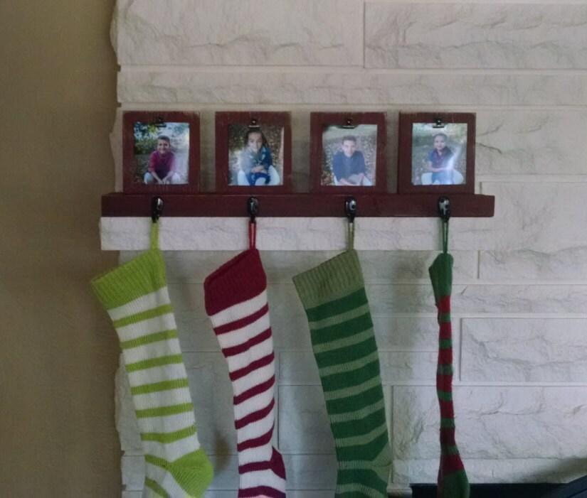 Stocking holders hooks rustic holder