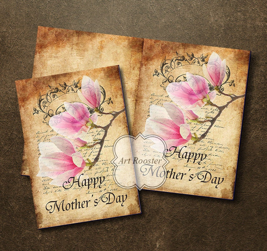 Printable Mother's Day Card Unique Vintage Greeting Card