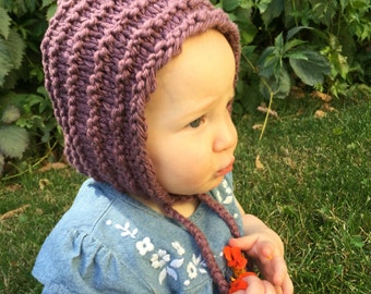 Baby or Toddler Pixie Bonnet, Knit Pixie Hat, Pixie Hood, Elf Hat, Gnome Hat