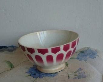 Café au Lait Bowl, French Vintage Breakfast Bowl, Cereal Bowl, Fruit Bowl, Petit Déjeuner