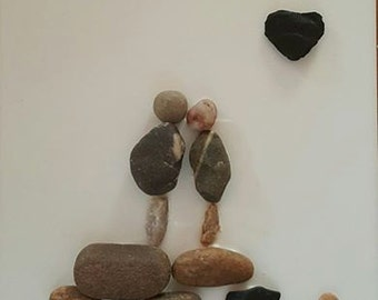 """Mixed Media Wall Art Titled """"Under the Moon of Love"""""""