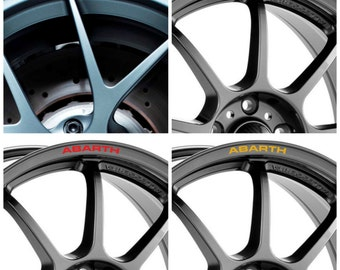 x8 Fiat ABARTH Rims Alloy Wheel Decals Stickers 500 500C 500L 500e 500X 595 695 Biposto Punto Grande Punto Stilo - All models