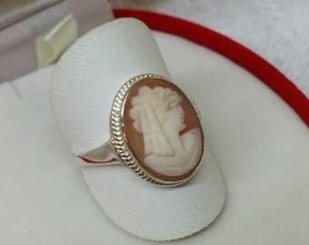 Art Nouveau 800 silver gem ring 19.8 mm SR293