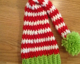 SALE, Santa Hat, Baby Christmas Hat,Holiday Hat for your photos, sized newborn- 3 months. Pre Holiday SALE!