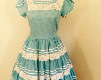 Country Blue Cutie Patio Dress
