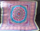 """Sophies Garden Crochet Baby Mandala Blanket 31"""" 80cm"""