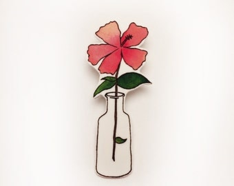 Hibiscus Brooch