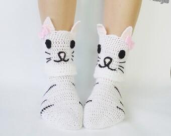 "Shop ""cat socks"" in Girls' Clothing"