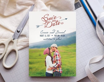 DIY Save the Date Template ANY COLOR - Camp Wilde - Edit Yourself in Word