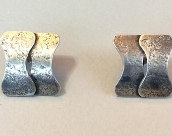 Marjorie Baer SF Silver Tone Pierced Earrings