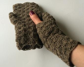 Crochet fingerless mittens.Women winter mittens.Crochet gloves.Winter mittens.Teen mittens.Knitted gloves.Wool gloves.Gloves.Arm warmers.